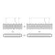 Sixty Rectangular Suspension -  /