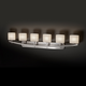Archway Oval Six Light Bath Bar - Brushed Nickel / Opal /