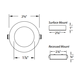 Round Low Voltage Button Light -  /