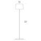 White And Black Floor Lamp -  /