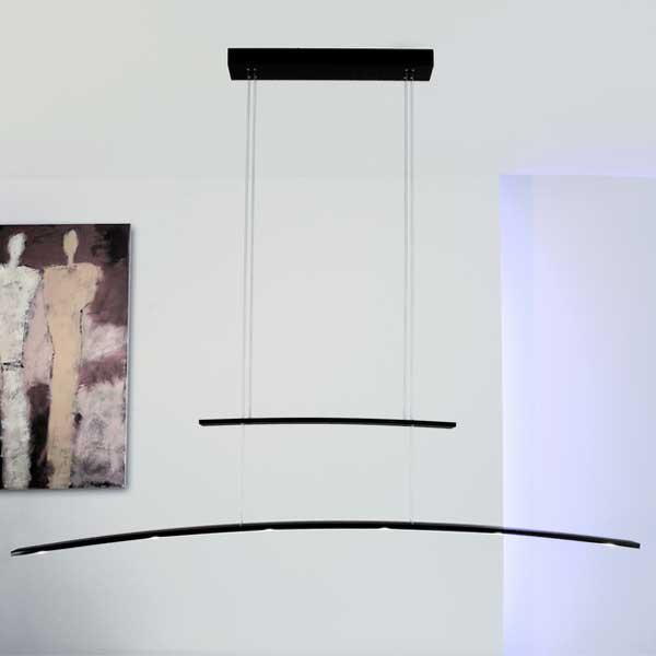 arco 6 light linear suspension arco lighting