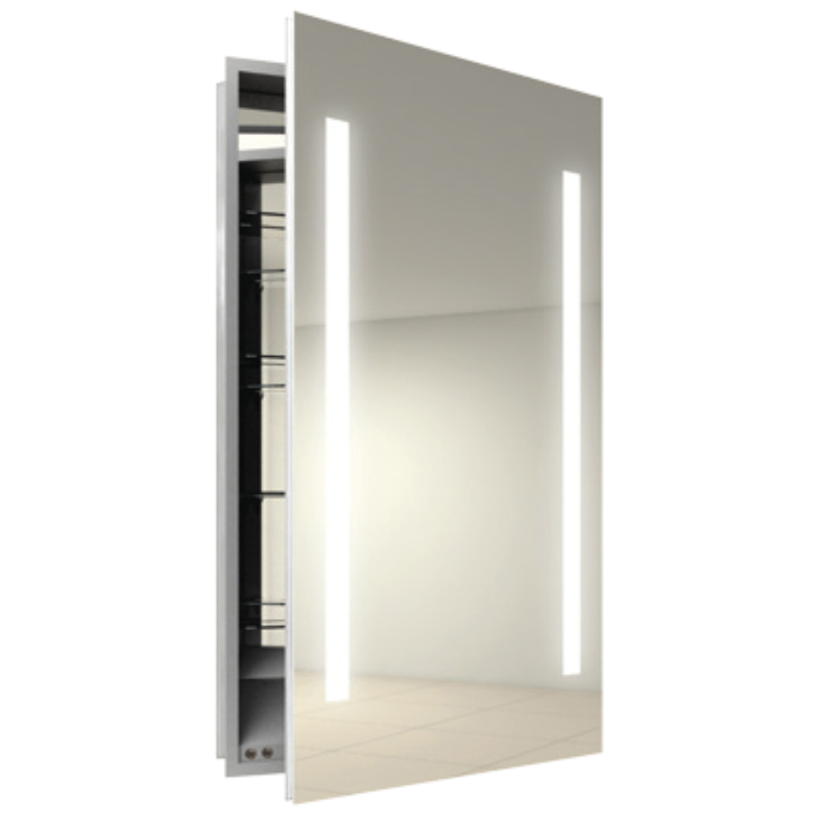Ascension right surface medicine cabinet by electric mirror asc2340