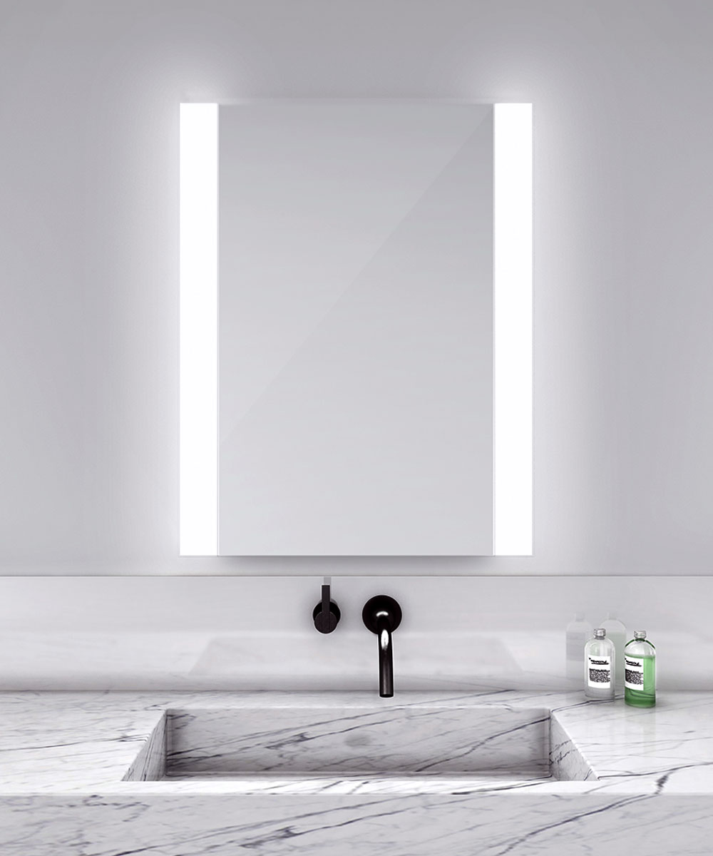 novo vertical lighted mirror bathroom mirrors lighting