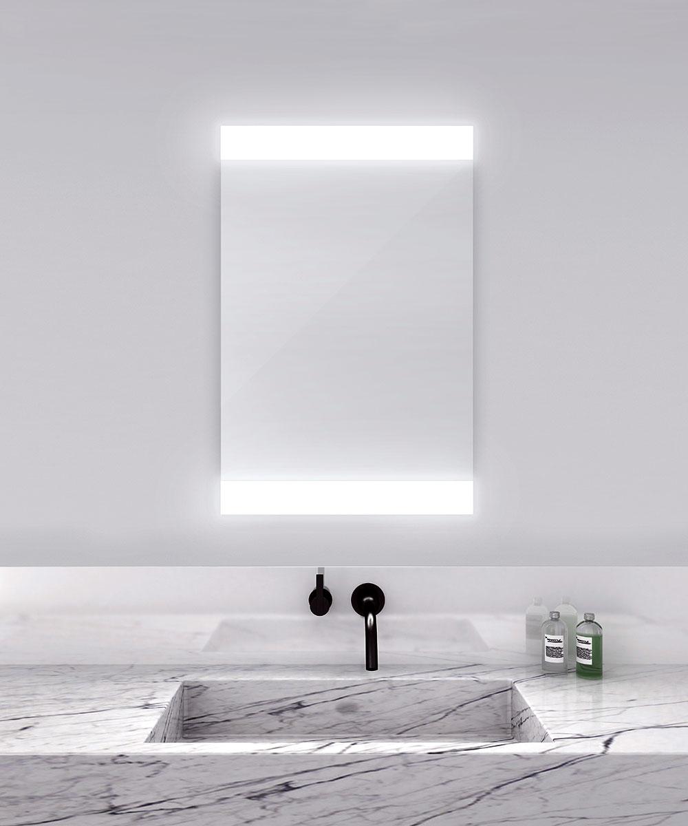 Novo-4 Horizontal Lighted Mirror by Electric Mirror | NOV4-2436