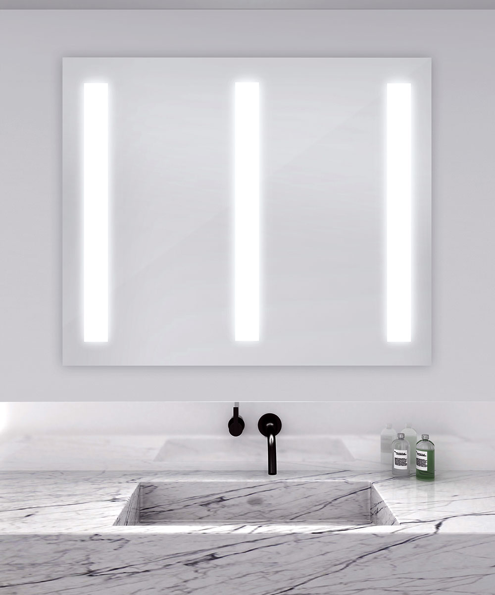 triple fusion lighted mirror by electric mirror fustri4840. Black Bedroom Furniture Sets. Home Design Ideas