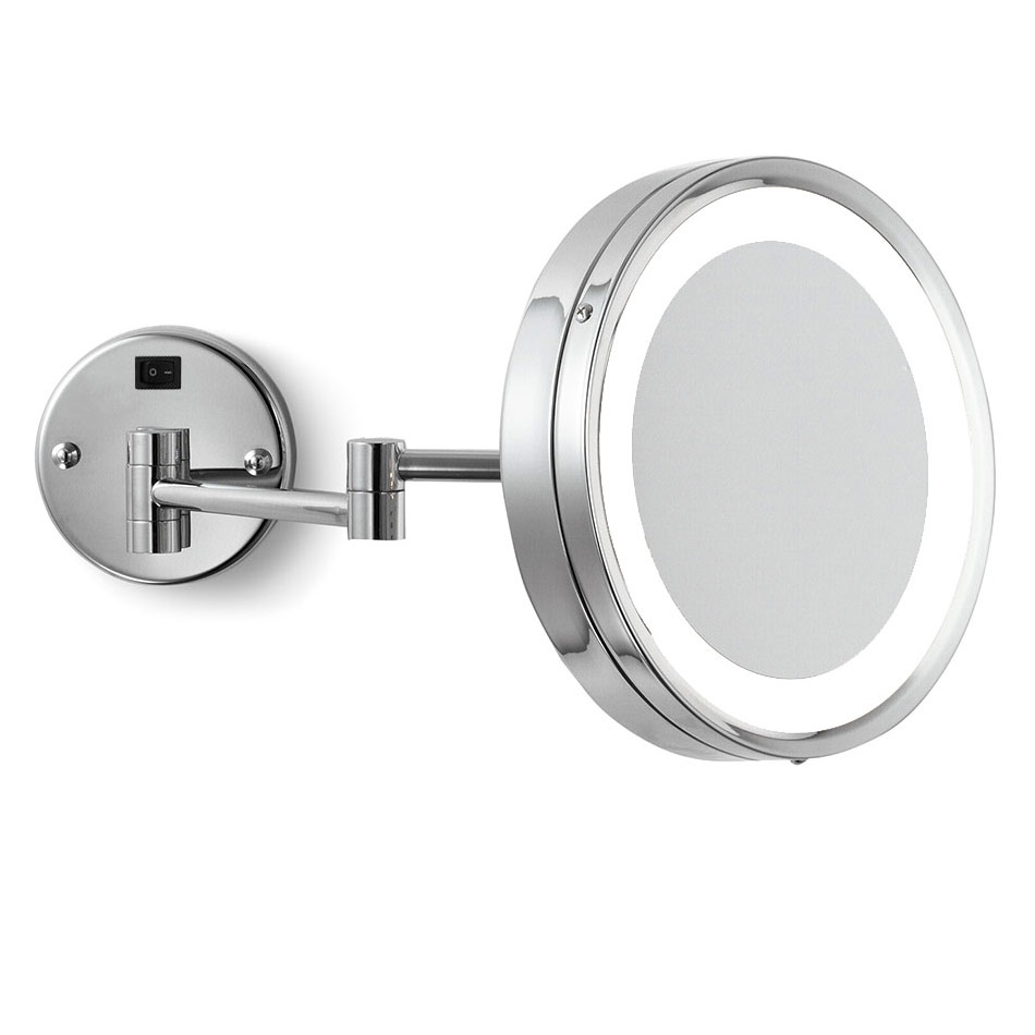 Lighted Wall Mount Makeup Mirror wall-mounted makeup mirrorelectric mirror | emhl10-ch