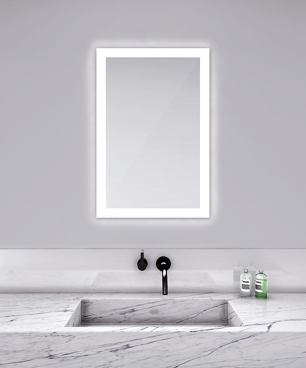 Rectangular Lighted Mirror By Electric Mirror