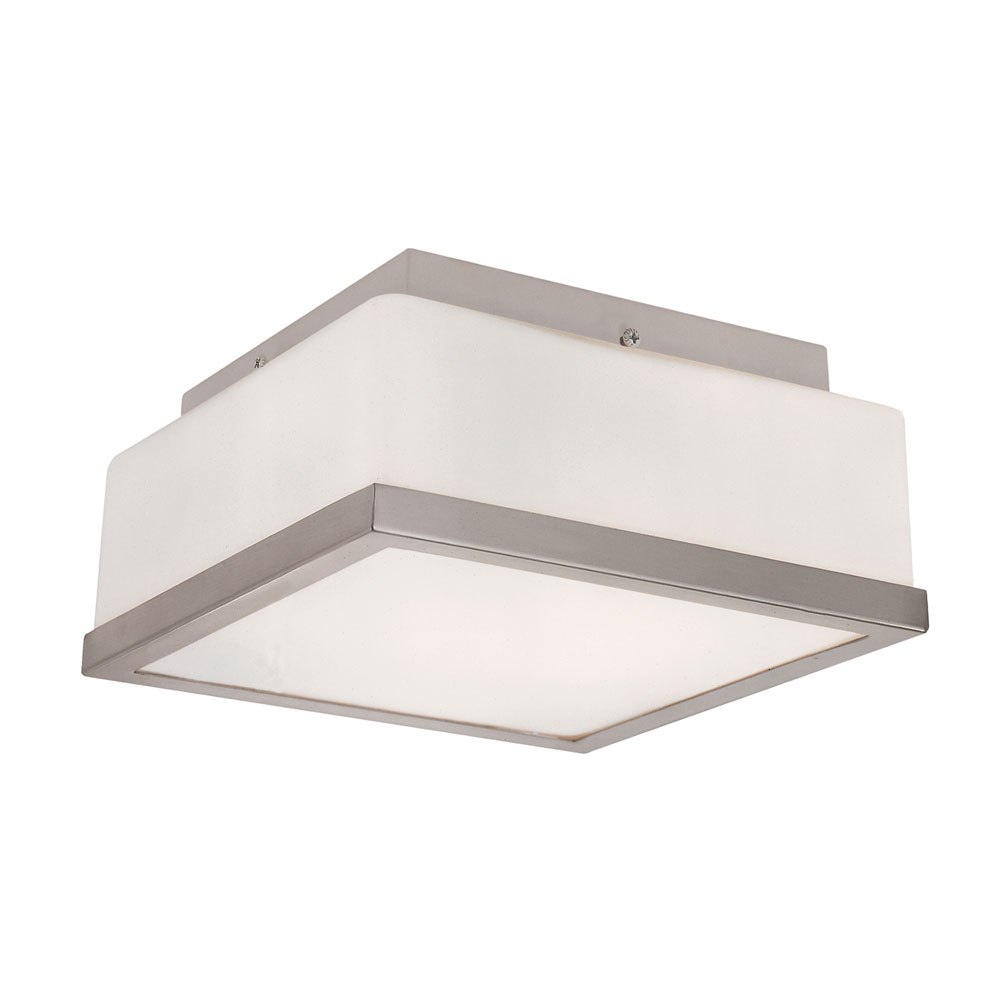 frost square flush mount ceiling by trans globe pl 10090 bn