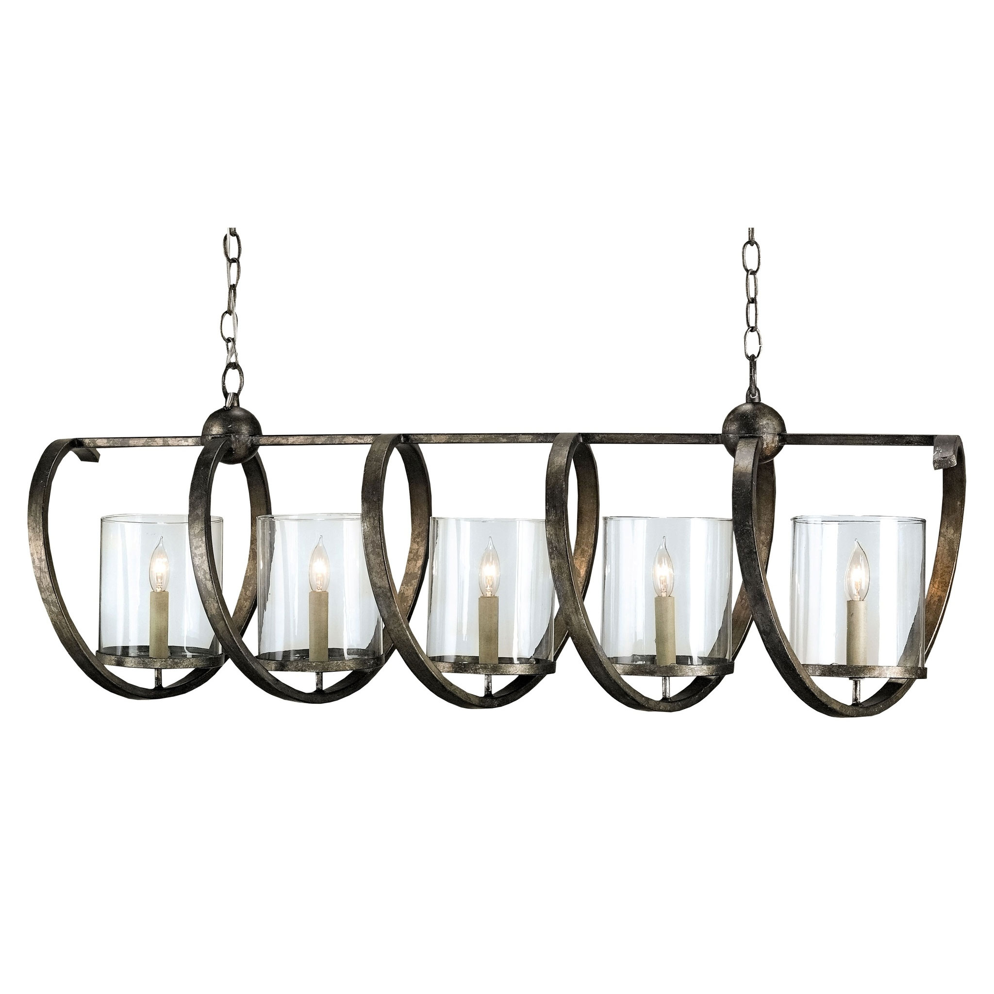 Rectangular Wrought Iron Chandelier Pictures Of Dining: Maximus Rectangle Chandelier By Currey And Company