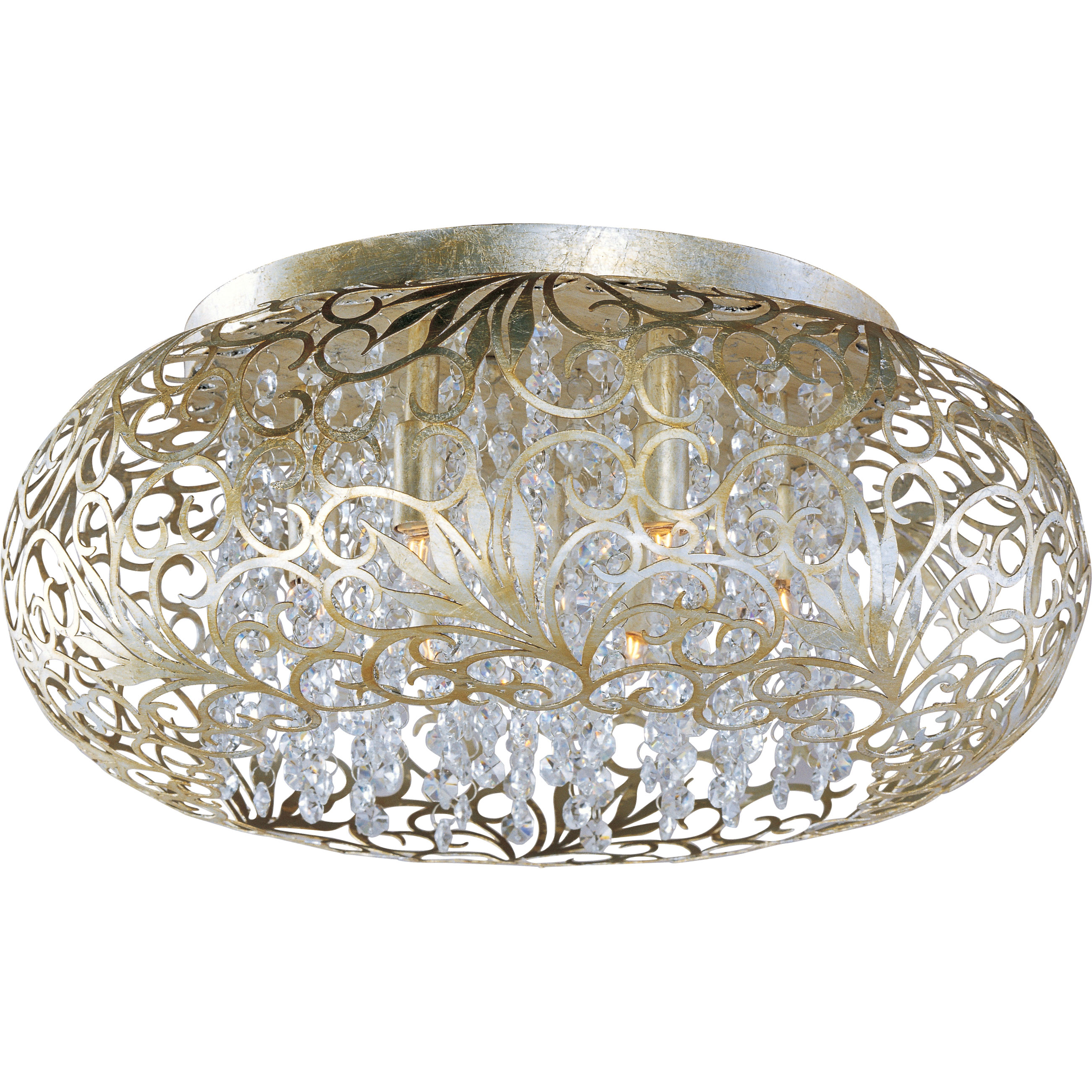 Arabesque Oval Ceiling Flush Light By Maxim Lighting