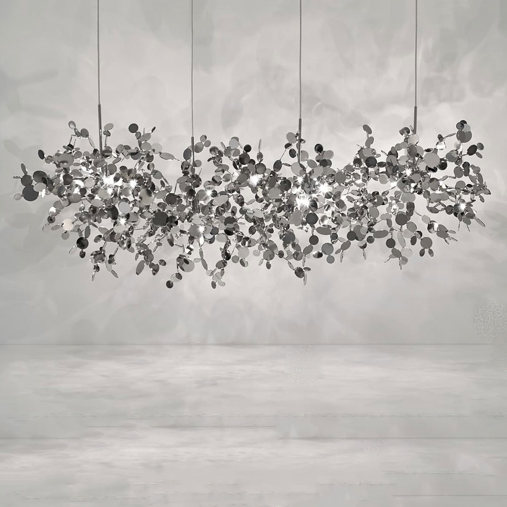 Argent Linear Chandelier By Terzani Usa