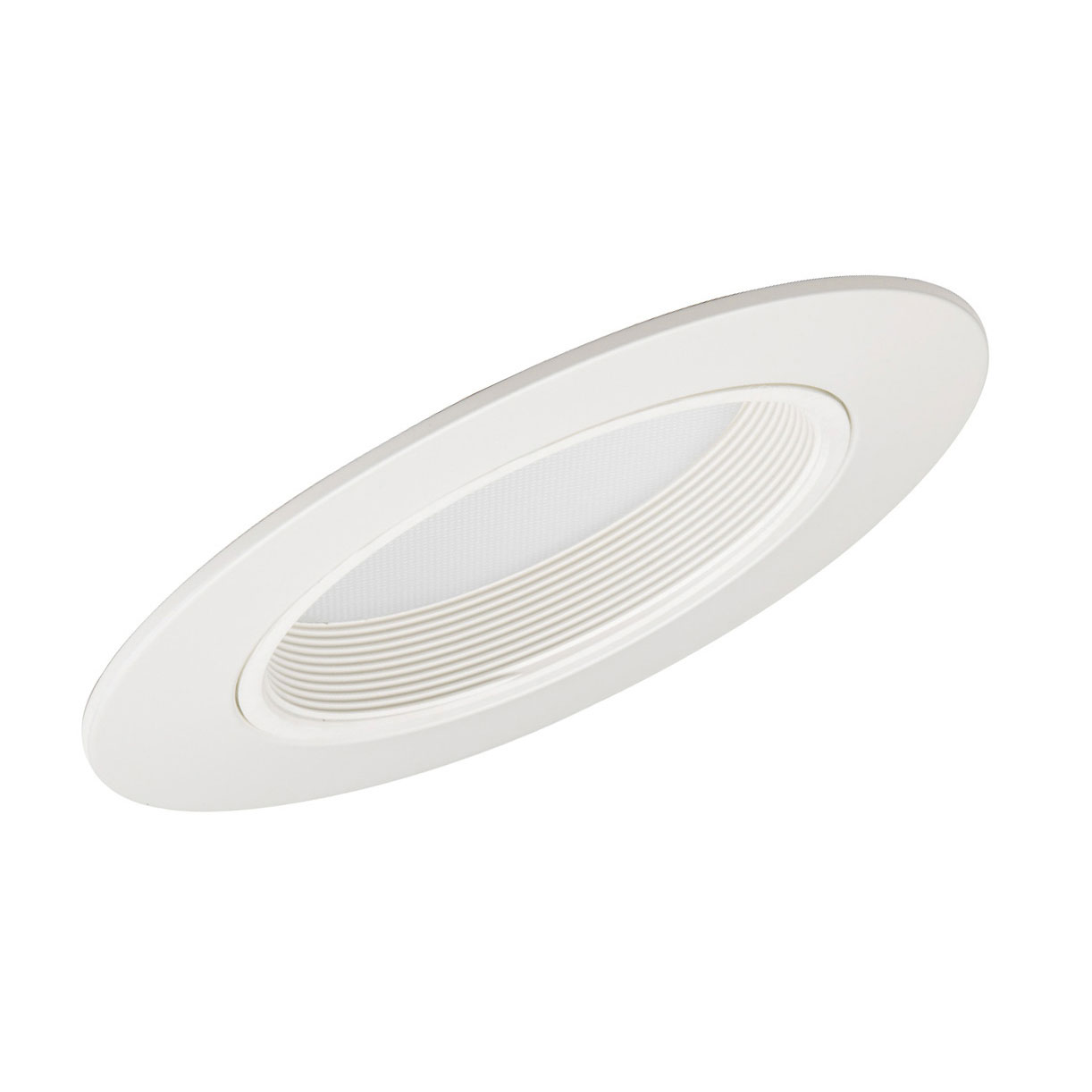 Sloped Recessed Trim White Baffle 6in