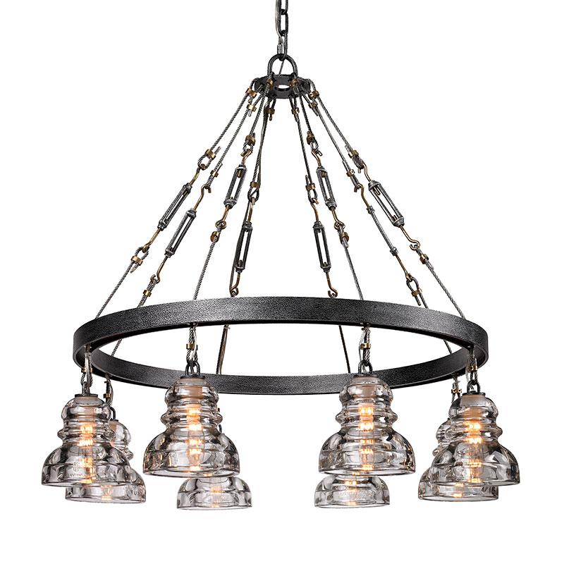 menlo park chandelier by troy lighting f3136. Black Bedroom Furniture Sets. Home Design Ideas