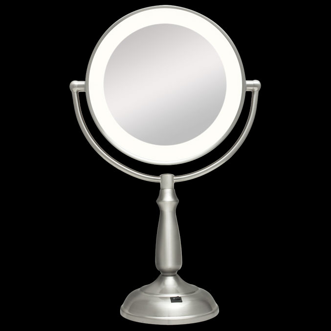 Ultra bright dual sided 1x 12x led light vanity mirror by zadro ledvprt412