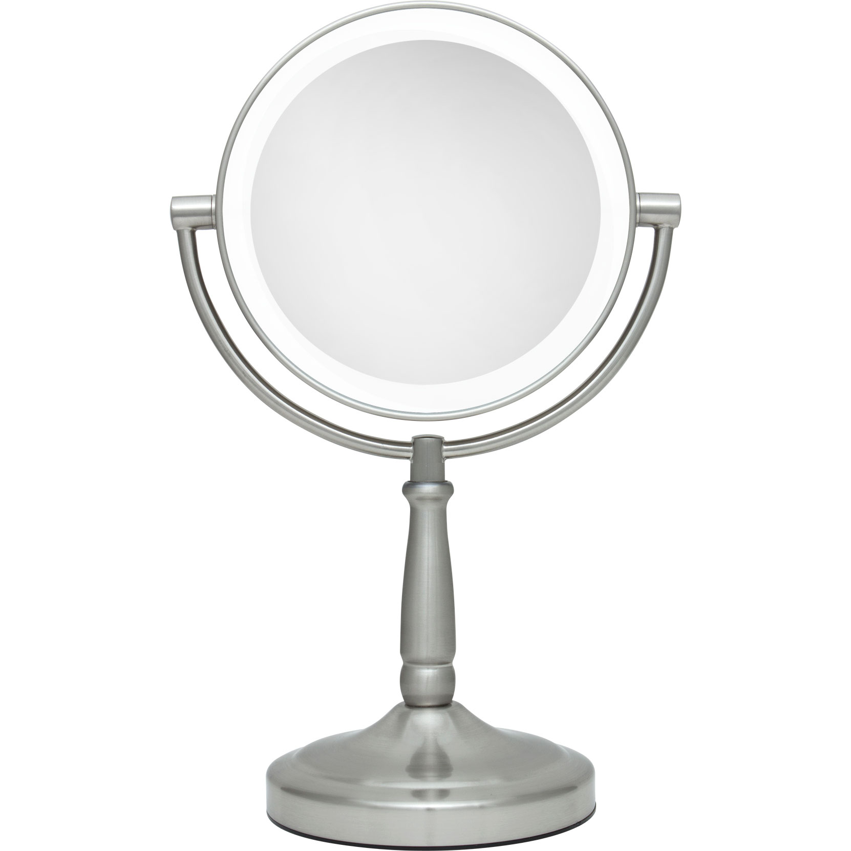 5x 1x cordless dual sided led light vanity mirror by zadro ledv45