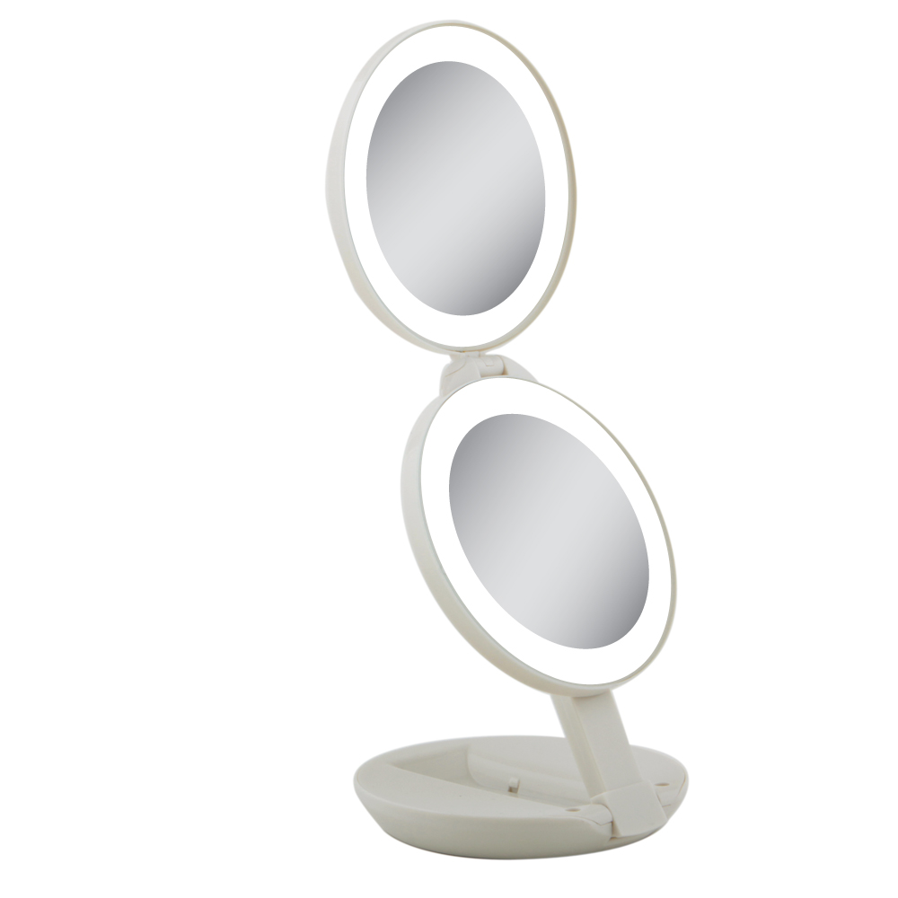 10x 1x Led Next Generation Travel Mirror By Zadro Ledt01