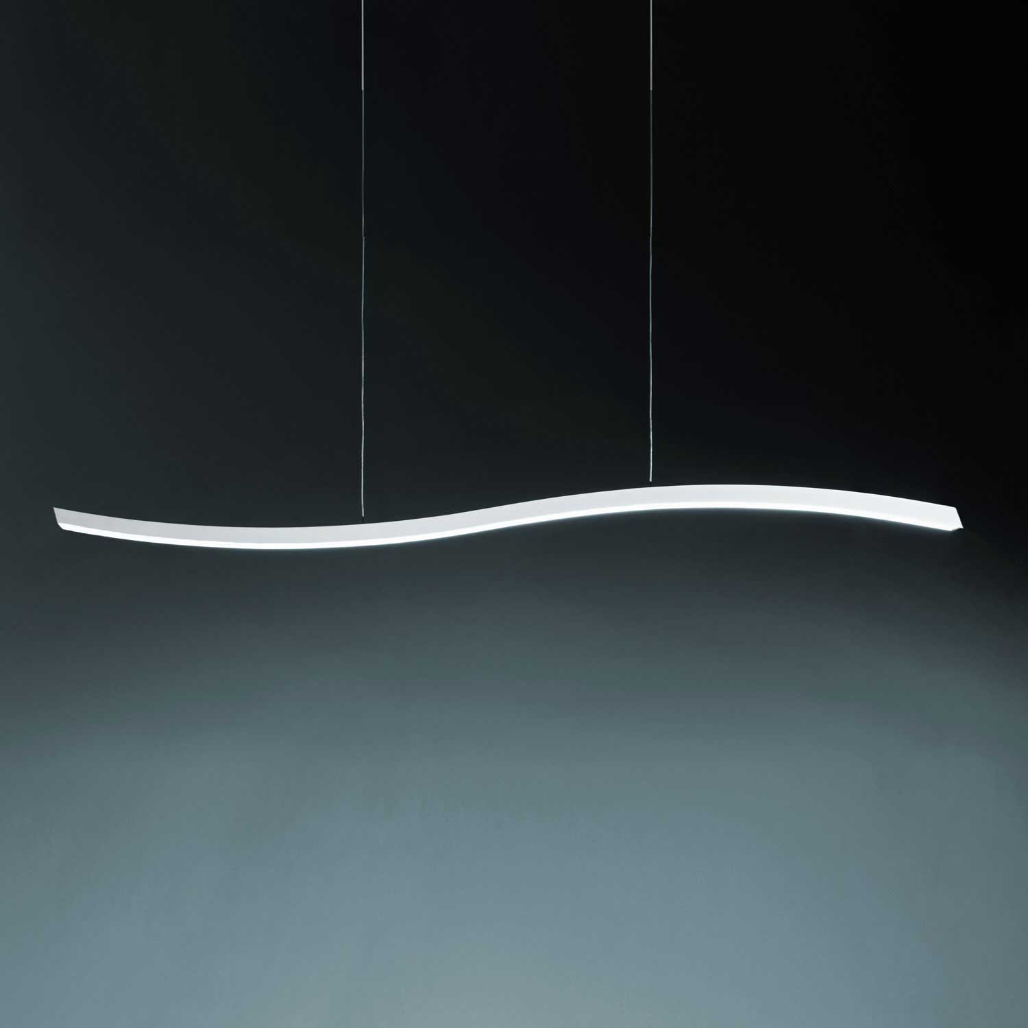 linear suspension lighting. serpentine linear suspension by fontana arte ul4175bi lighting 4
