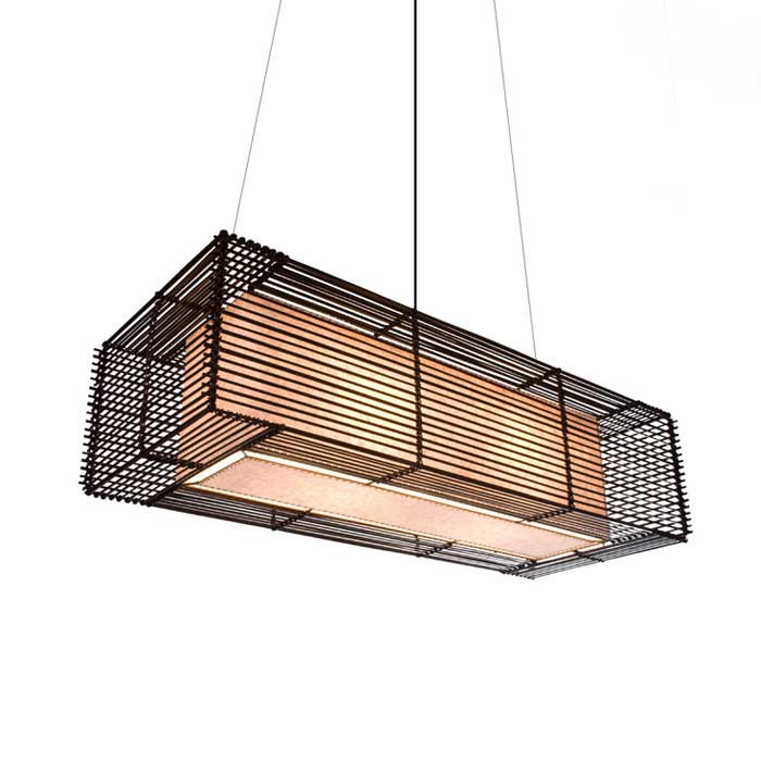 Kai Rectangular Outdoor Hanging Lamp By Hive | LKI B 3910OD