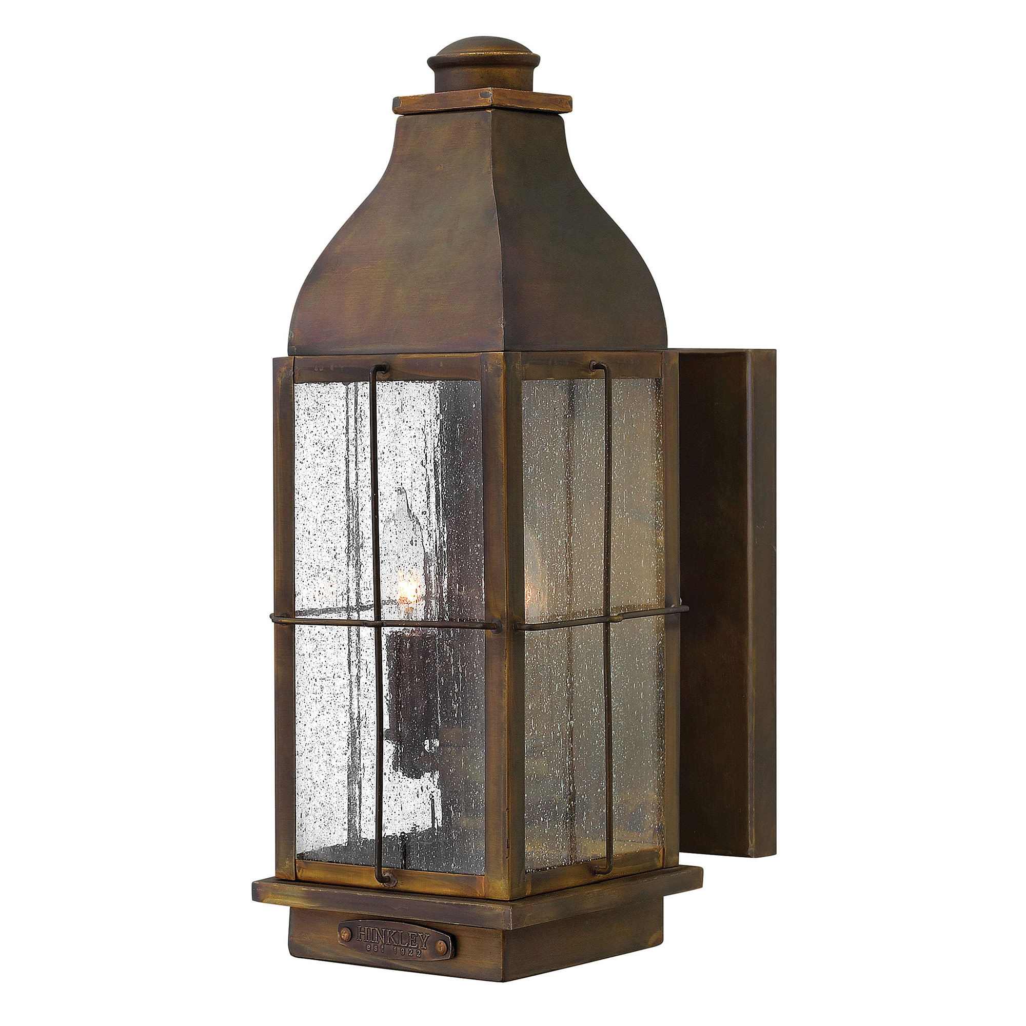 Bingham outdoor wall sconce by hinkley lighting 2044sn for Candelabre exterieur