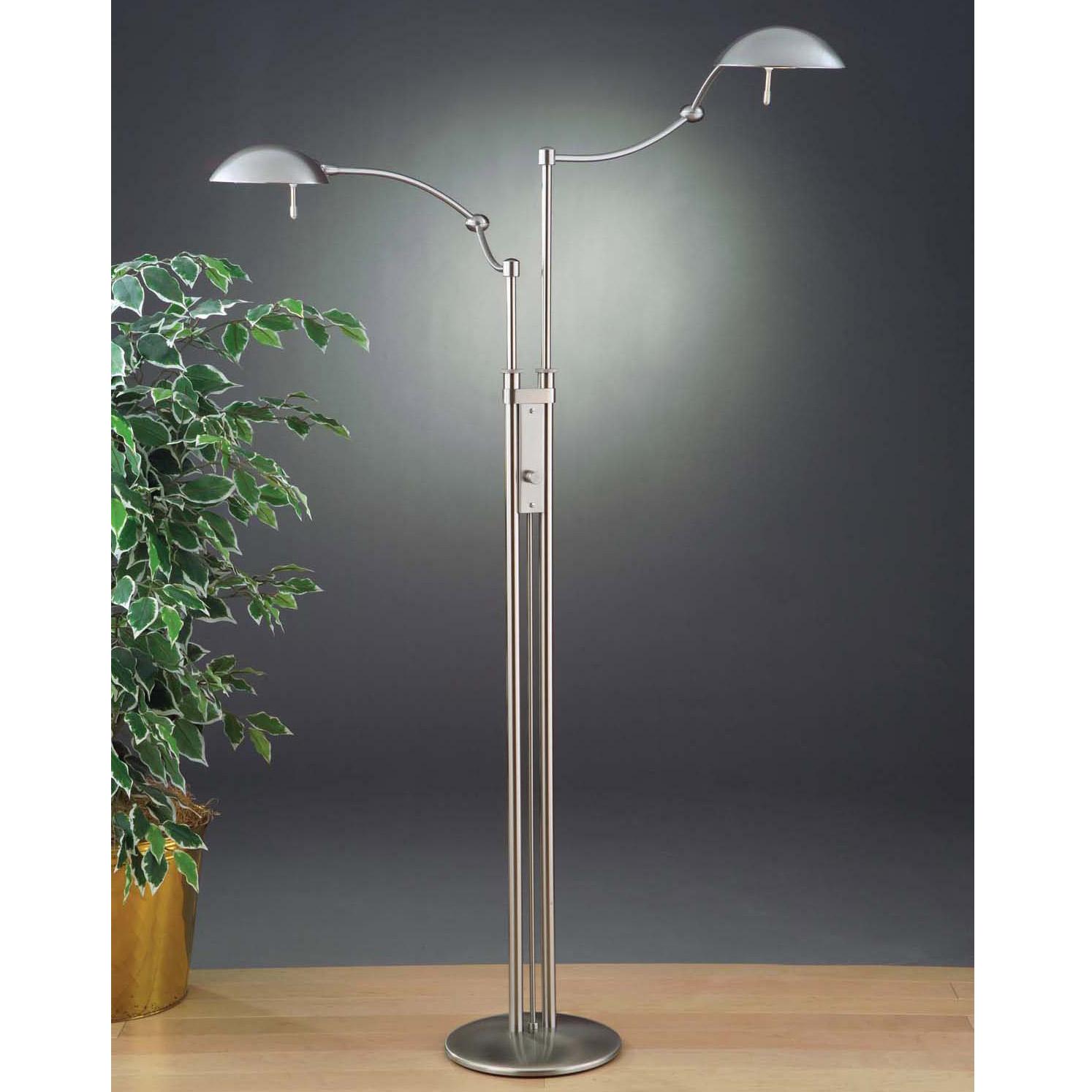 Dual Arm Pharmacy Floor Lamp By Holtkoetter 6451 Sn