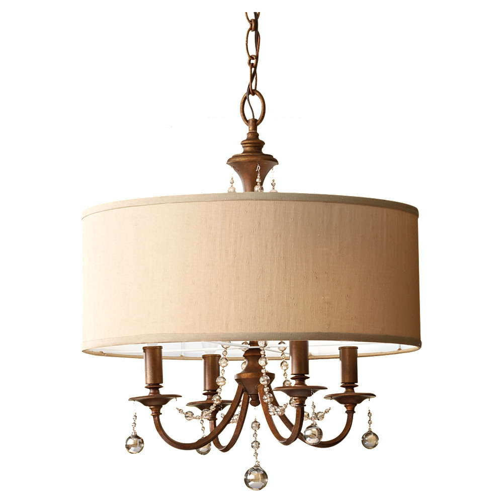 Clarissa Drum Shade Chandelier By Feiss F2727 4fg