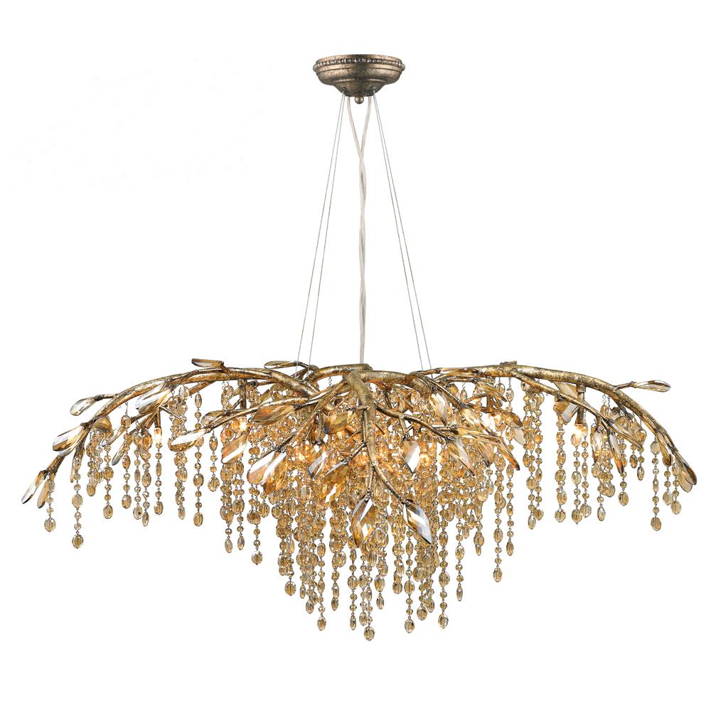 lighting chandelier light pd gold mystic waterfall autumn golden twilight in shop crystal