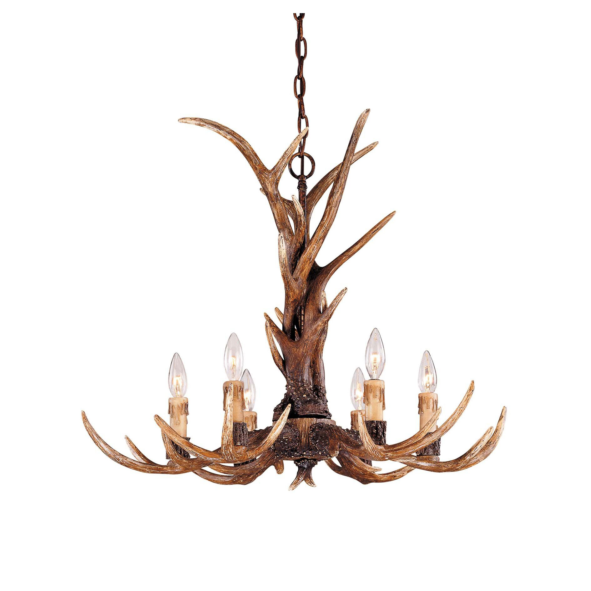 Blue ridge antler chandelier by savoy house 1 40017 6 56 mozeypictures Choice Image