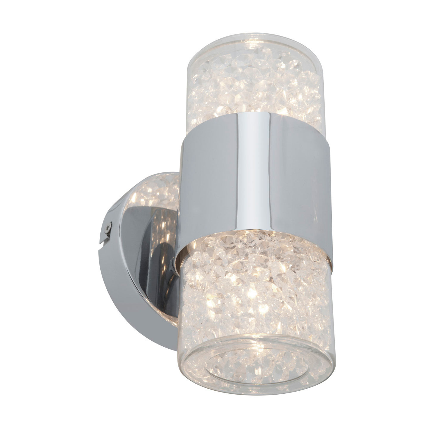 Kristal Crystal Vertical Bathroom Vanity Light by Access 51015-CH/CCL