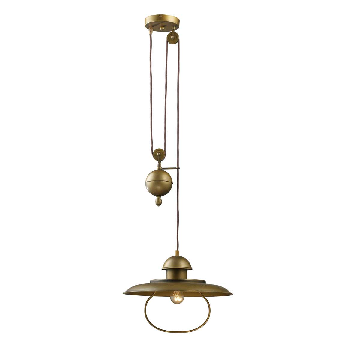 Farmhouse Pulley Pendant By Elk Lighting