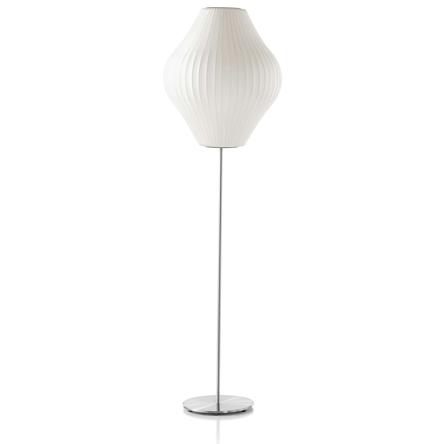 Pear lotus floor lamp by george nelson by modernica pear for Lotus floor lamp white