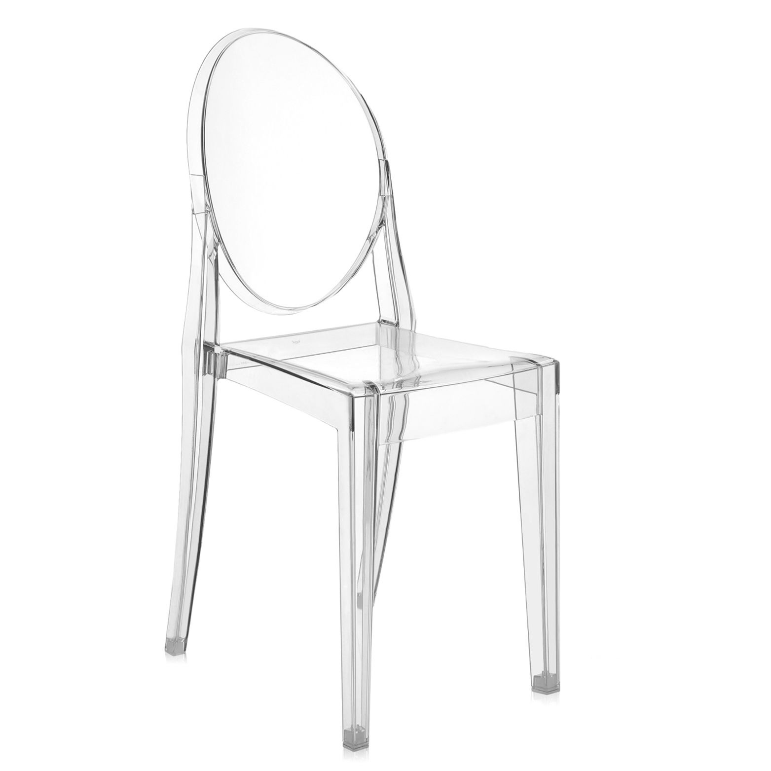 Kartell Düsseldorf ghost chair 4 pack by kartell 4856 b4