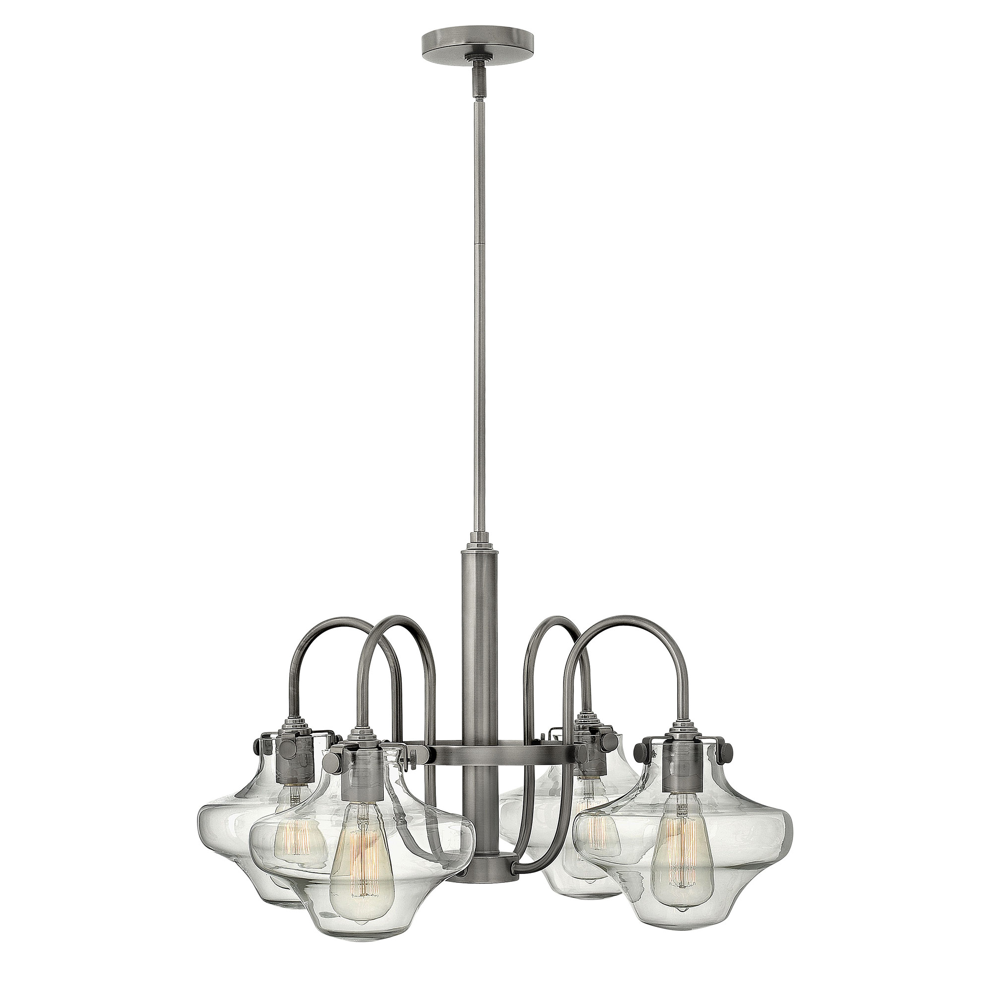 congress saturn chandelier by hinkley lighting