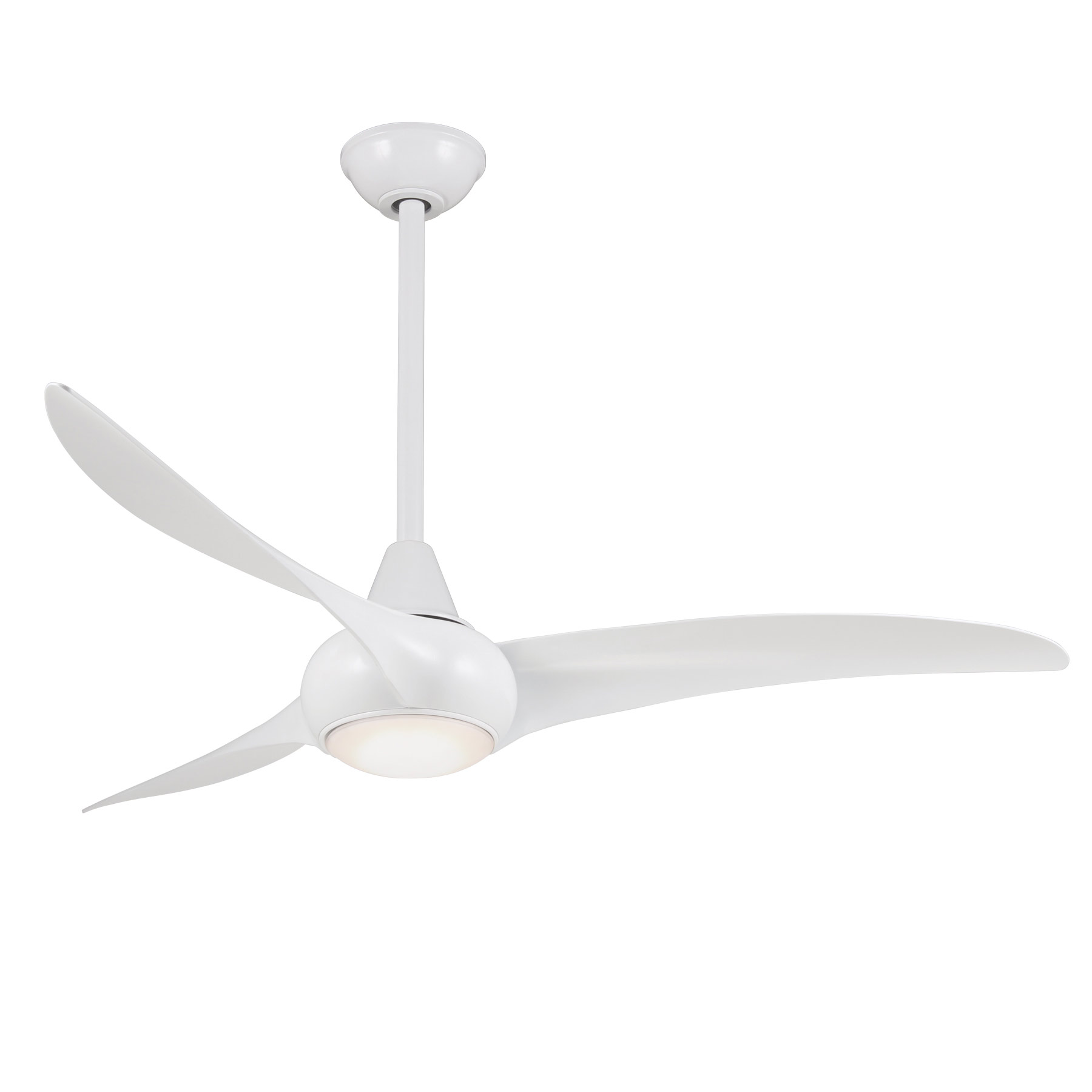 Wave LED Ceiling Fan by Minka Aire | F844-WH