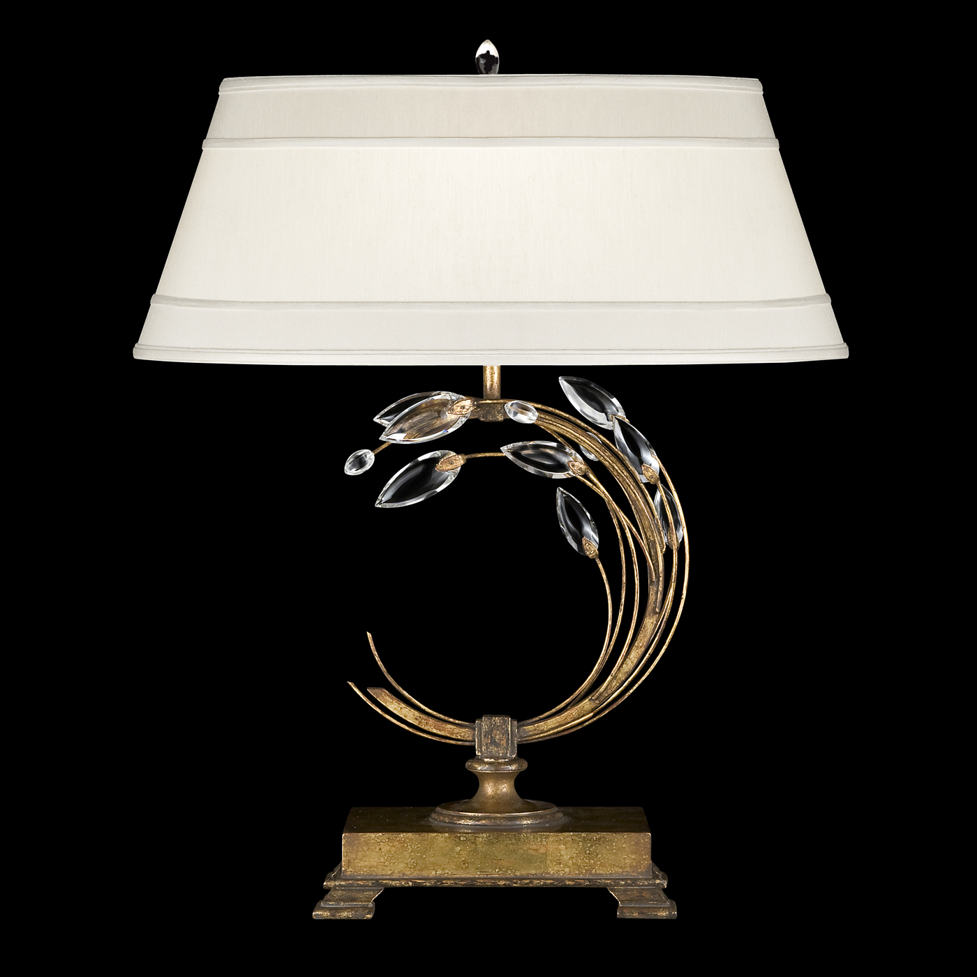 Crystal laurel left 010 table lamp by fine art lamps 778010 aloadofball Images