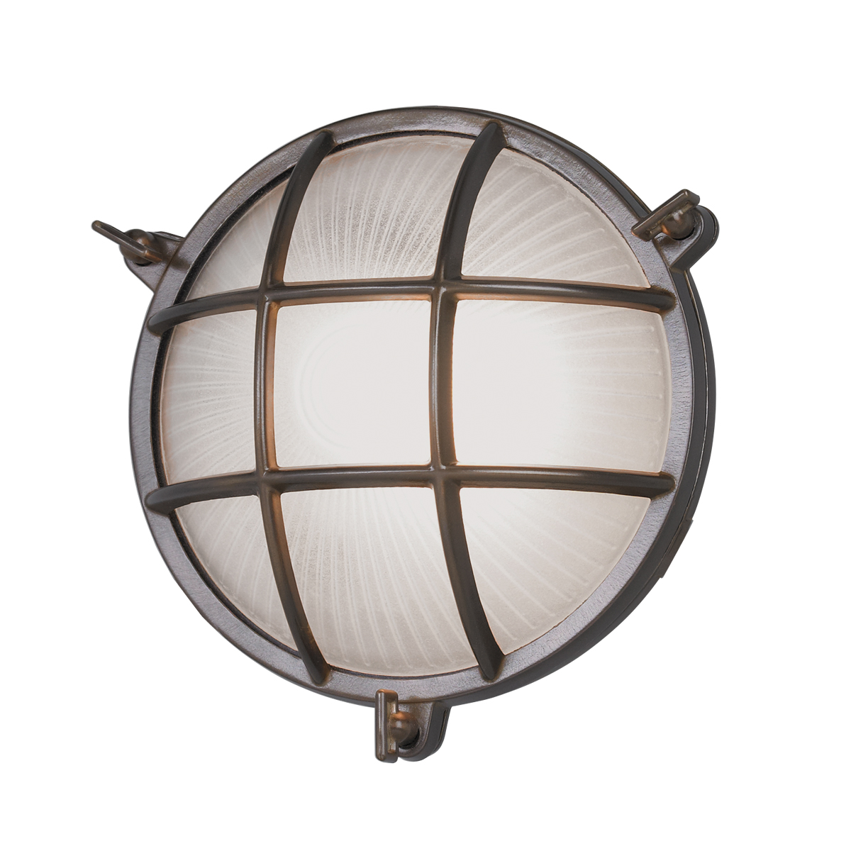Mariner Round Outdoor Wall Light By Norwell Lighting 1102 Br Fr