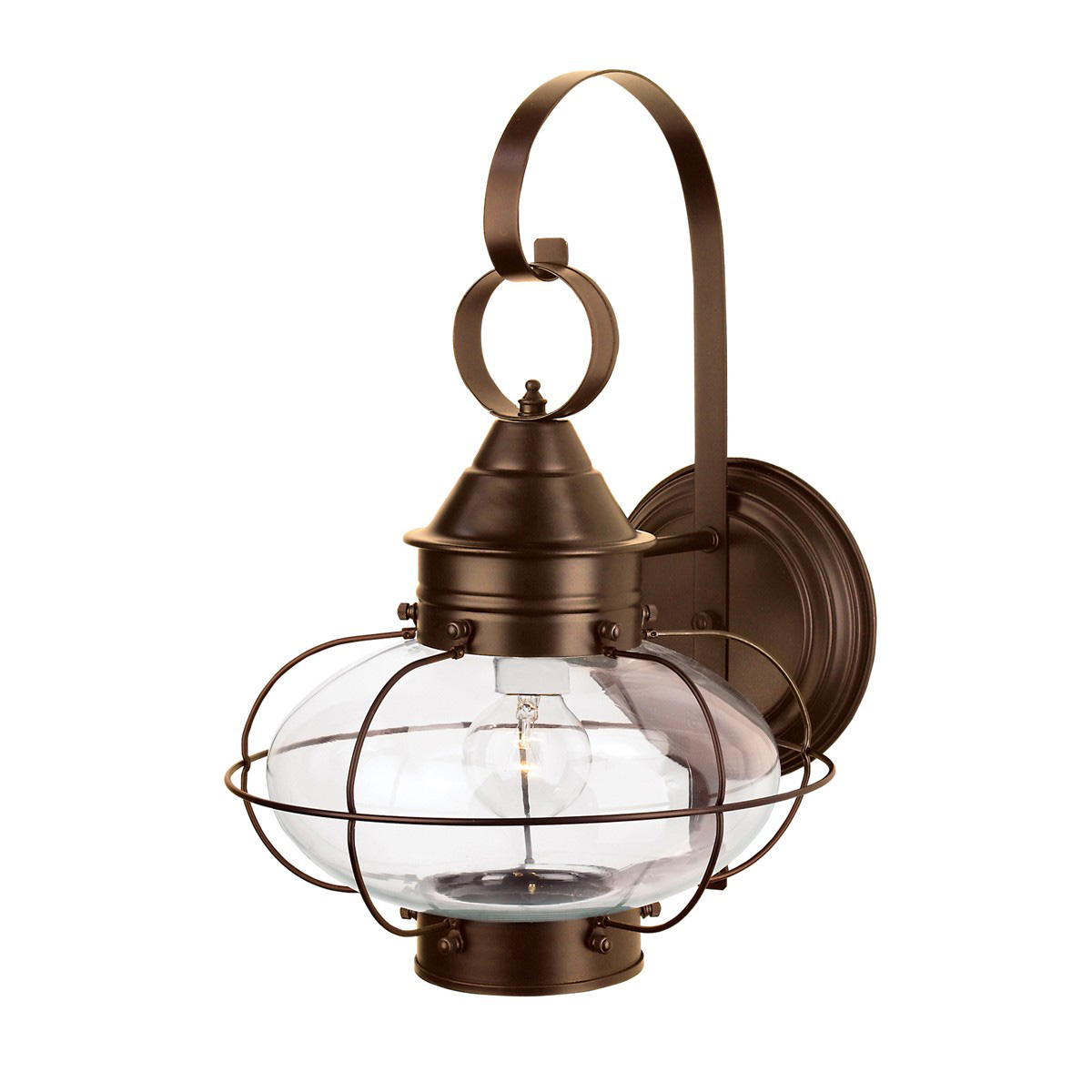 Cottage Onion Outdoor Wall Light By Norwell Lighting 1324 Br Cl