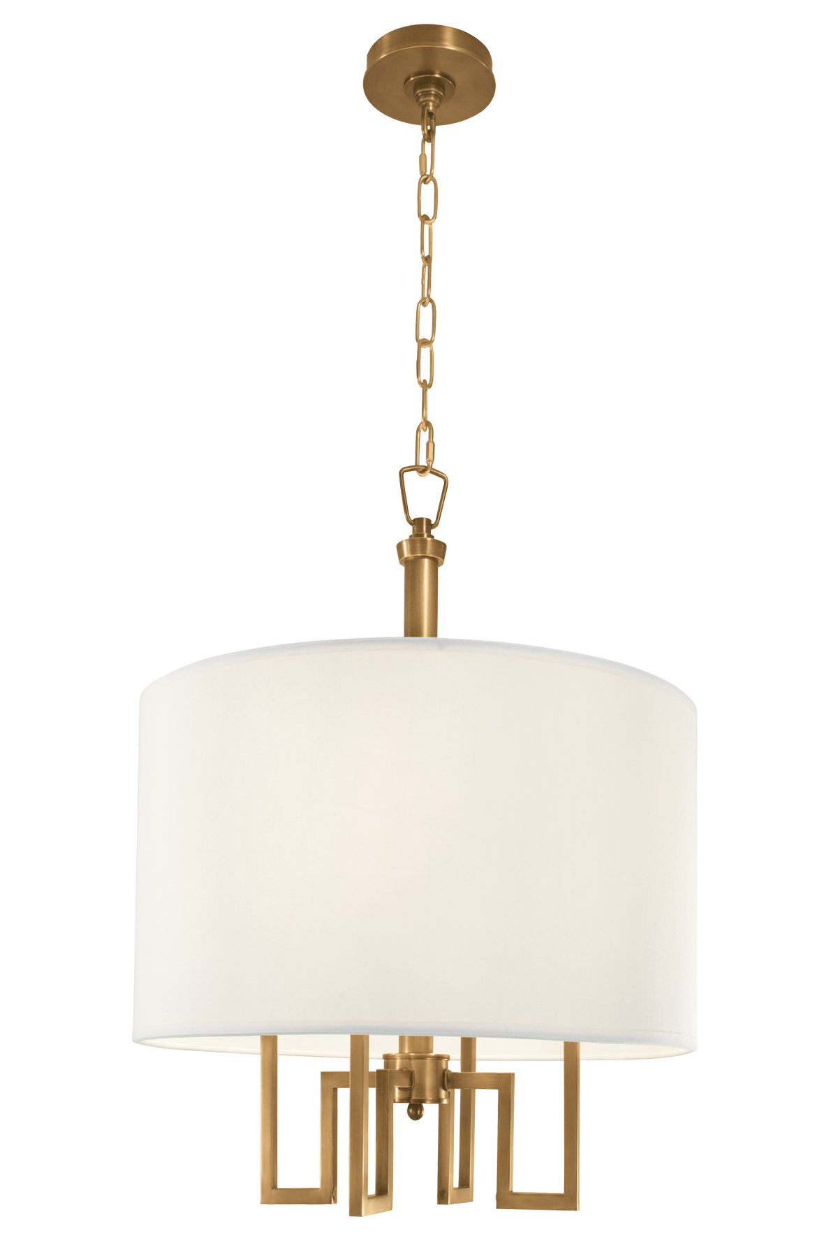 Maya Drum Shade Chandelier By Norwell Lighting 9677 Ag Ws