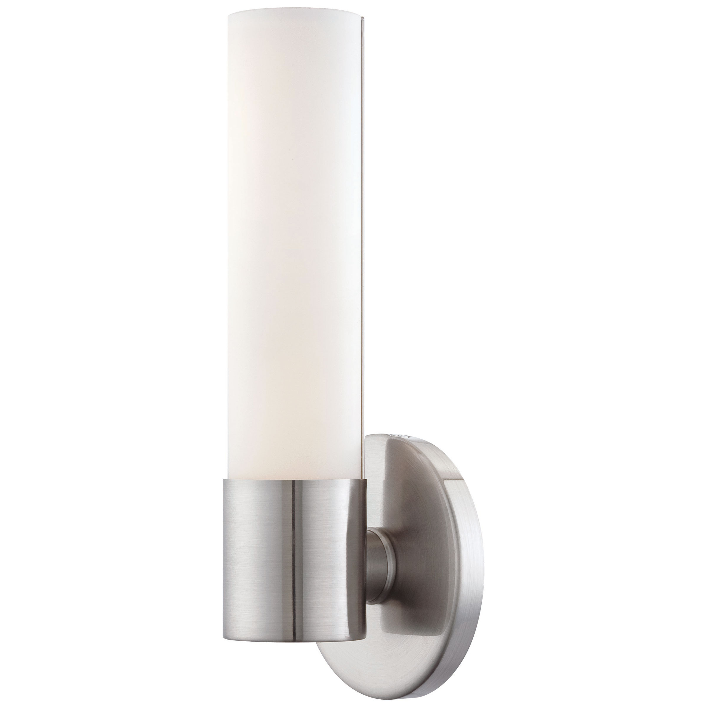 Saber LED ADA Wall Light By George Kovacs PL - Brushed nickel led bathroom light