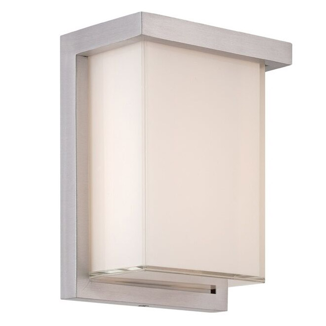 Ledge wet rated tall wall light by modern forms ws w1408 al aloadofball Image collections