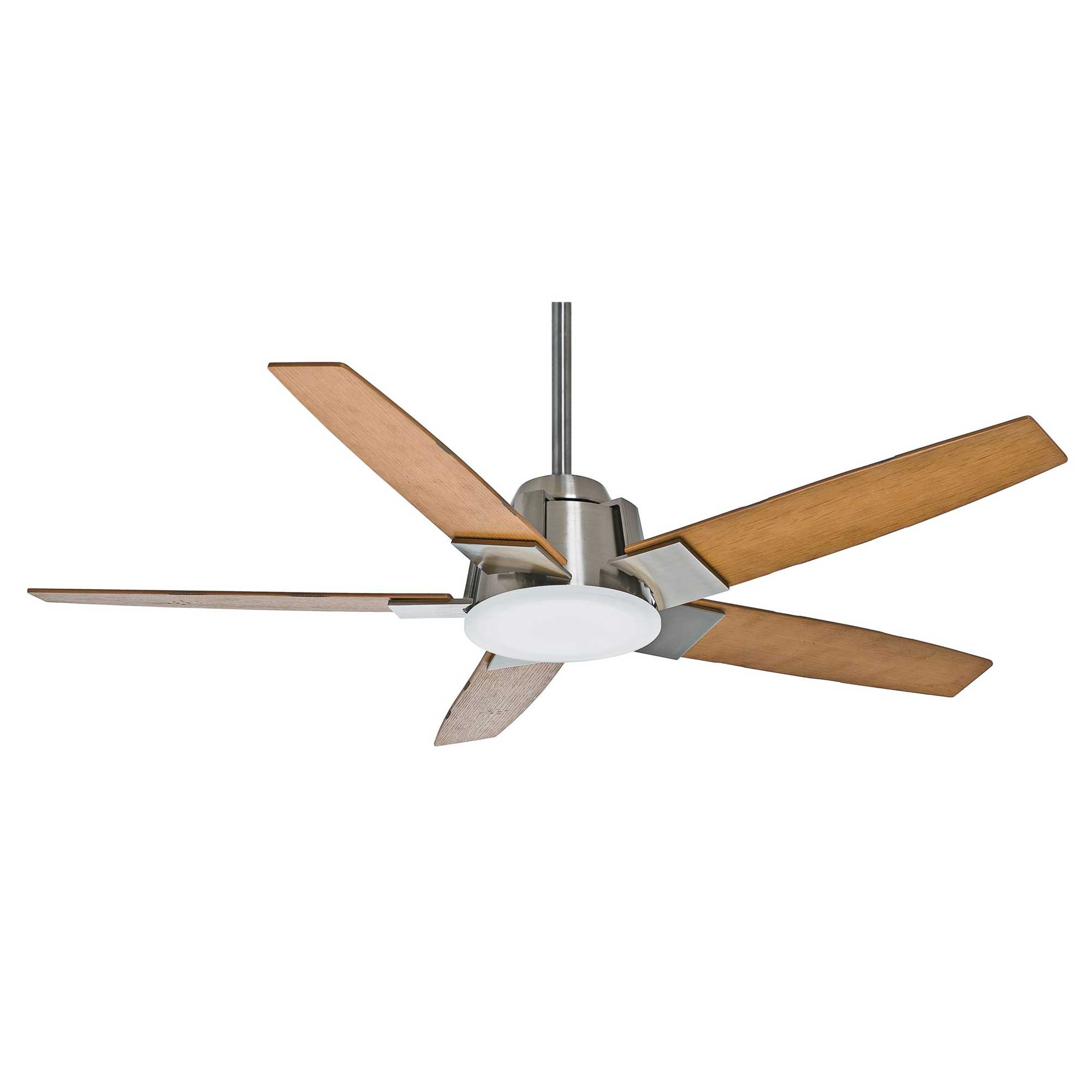 fan zoom steel brushed ceiling empire downrod loading