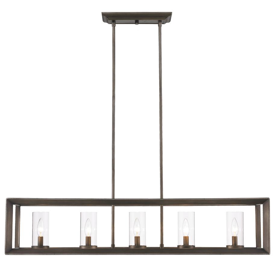 linear chandelier by golden lighting  lp gmt - smyth linear chandelier by golden lighting  lp gmt
