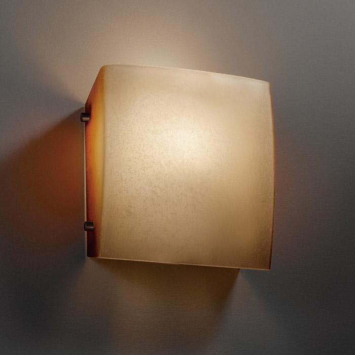 check out e1e1a cbbd5 Fusion Square ADA Wall Sconce by Justice Design   FSN-5120-CRML-DBRZ