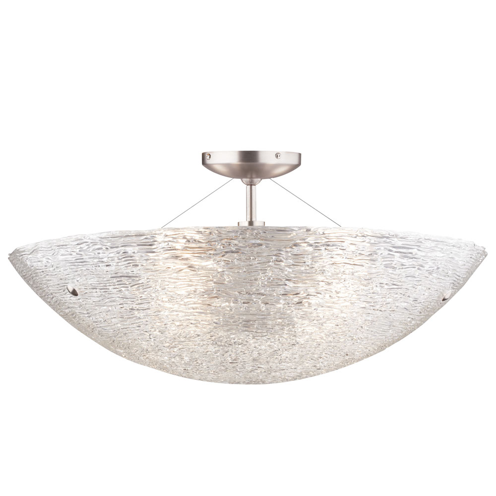 Trace Semi Flush Ceiling Light By Tech
