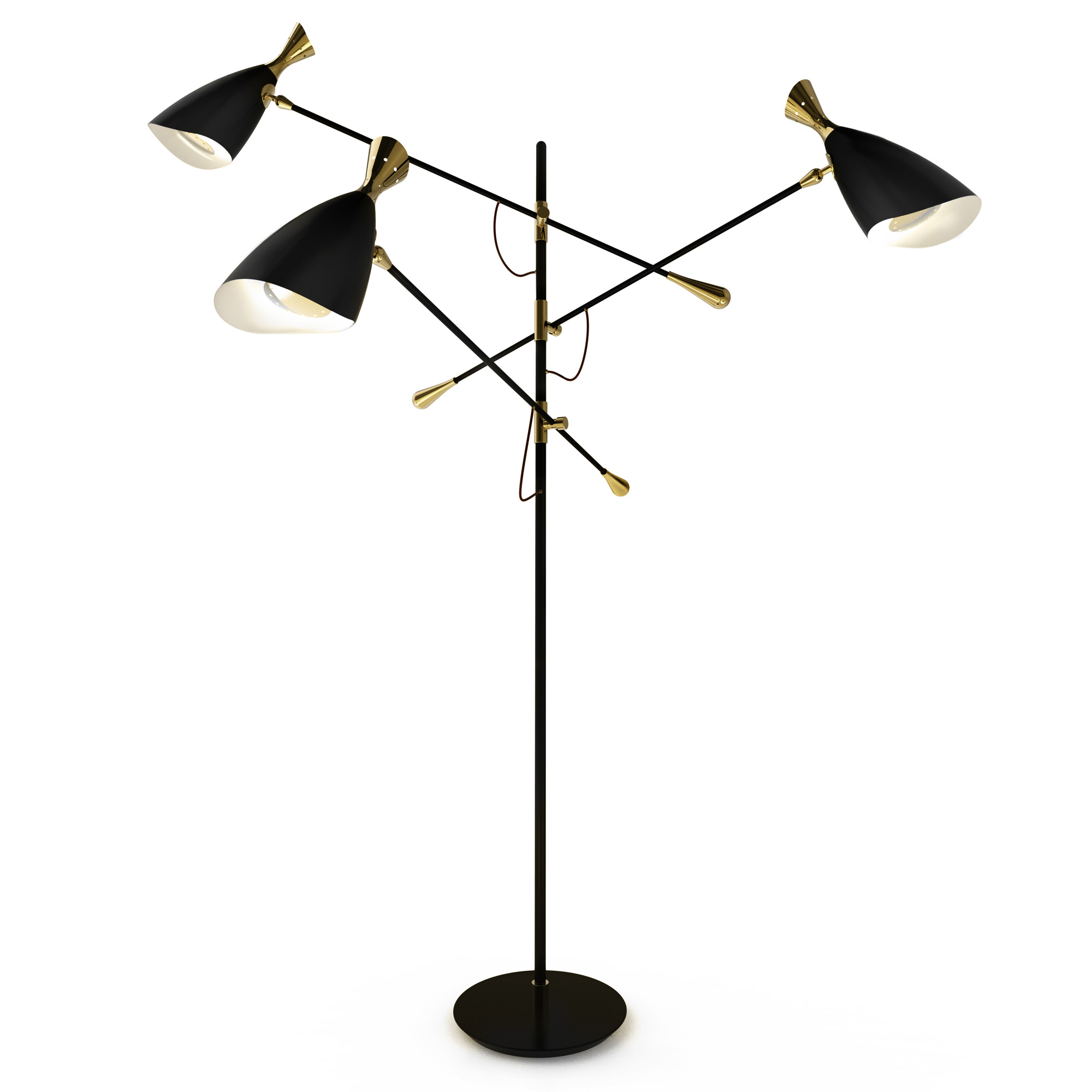 duke adjustable arm floor lamp by delightfull duke fl. Black Bedroom Furniture Sets. Home Design Ideas