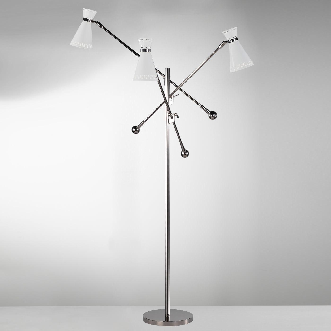Havana 3 arm floor lamp by jonathan adler ra w696 for Floor lamp 2 arms