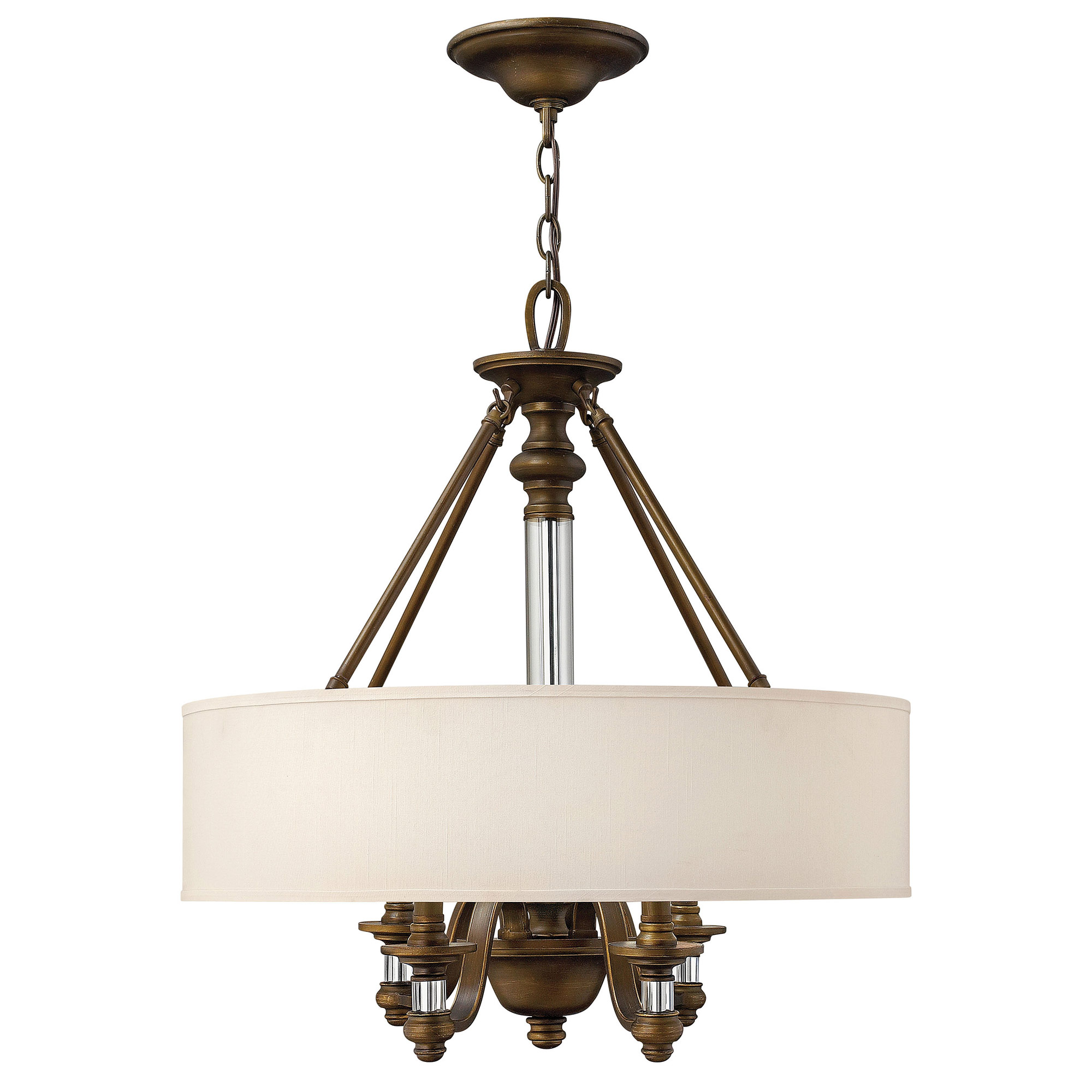 sussex drum shade chandelier by hinkley lighting 4797ez