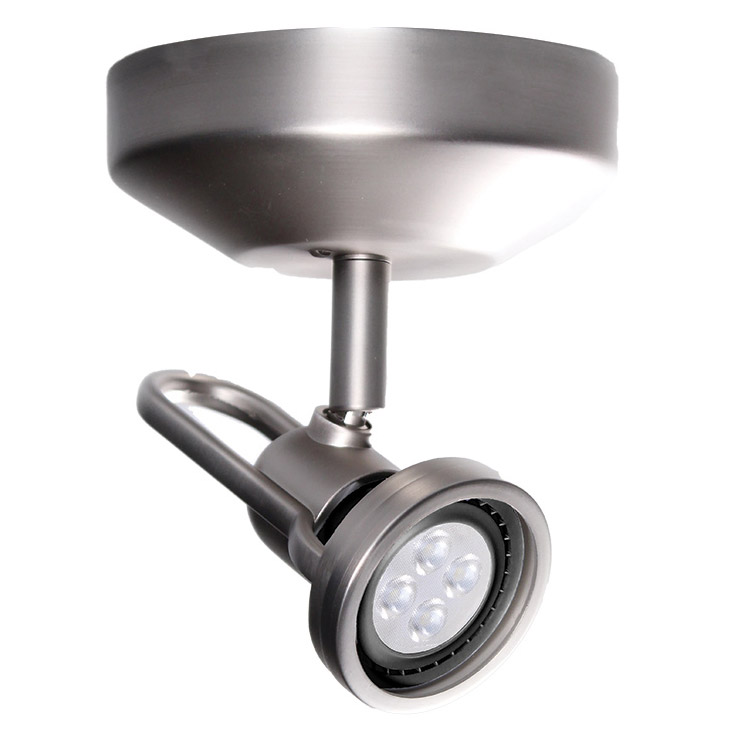 Me 826 single spot light by wac lighting me 826led bn aloadofball Choice Image