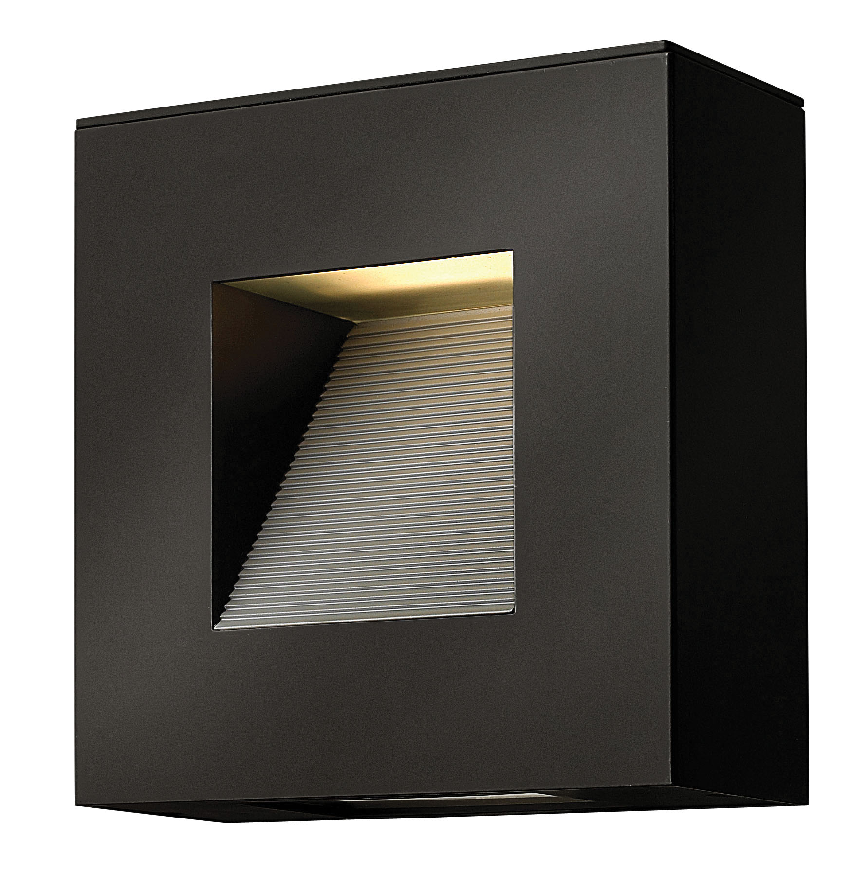 Luna square outdoor wall sconce by hinkley lighting 1647sk led
