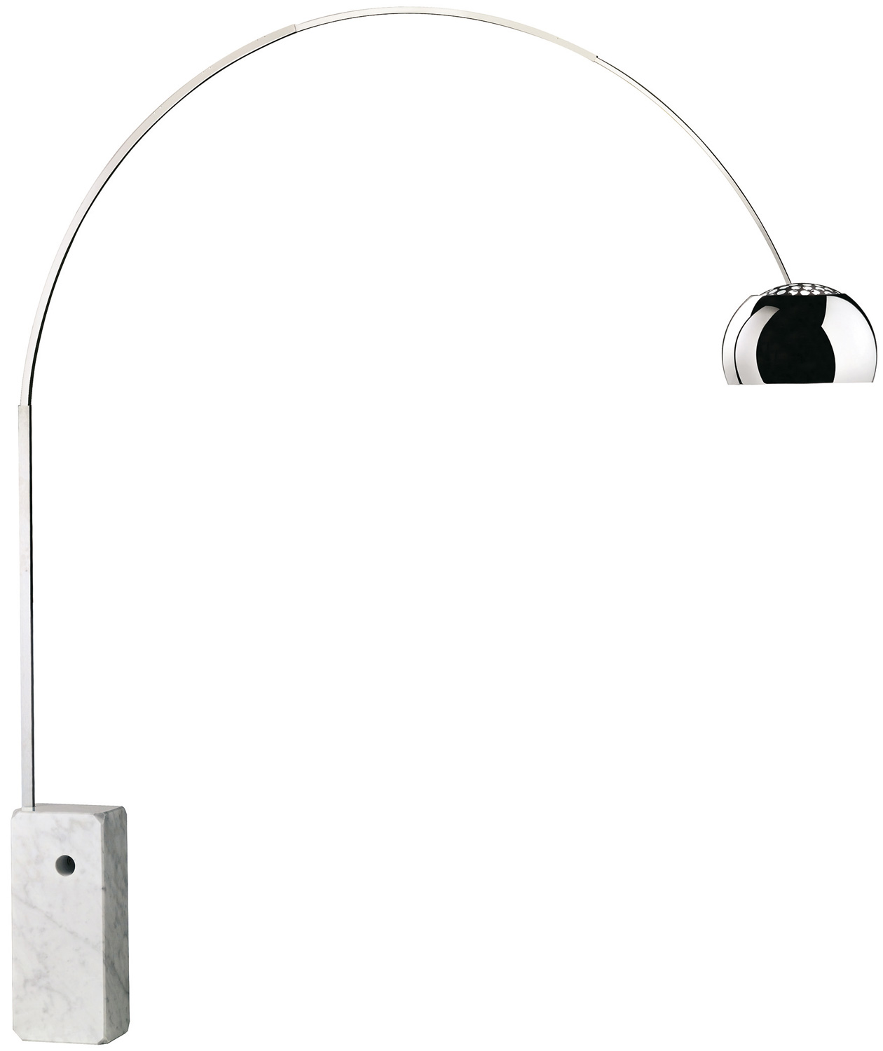 arco floor lamp by flos lighting fu030000. Black Bedroom Furniture Sets. Home Design Ideas