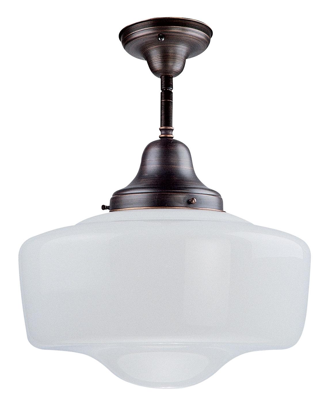 Schoolhouse Pendant Track Lighting: Schoolhouse Ceiling Semi Flush Mount By DVI Lighting